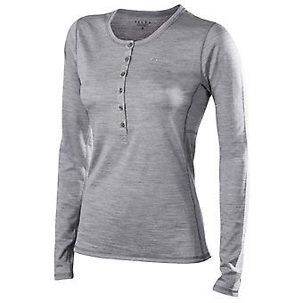 Фалке Silk шерсть с длинным рукавом - серый Хизер