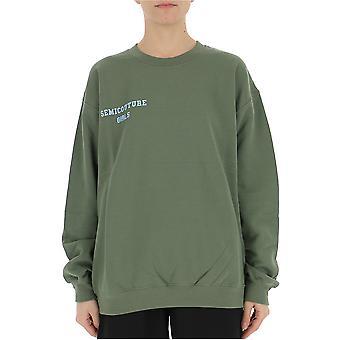 Semi-couture Laura Green Cotton Sweatshirt