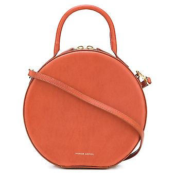 Mansur Gavriel Orange Leather Shoulder Bag