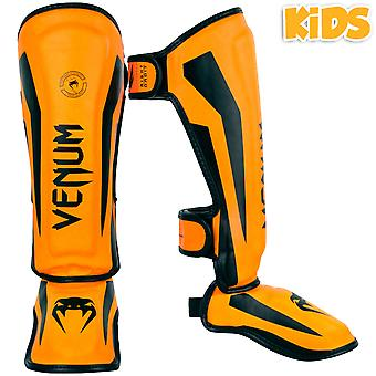Venum Kinder Elite Schienbeinschoner - Neo Orange
