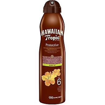 Hawaiian Tropic Dry Oil Clear Spray Sunscreens (Cosmetics , Body  , Sun protection)