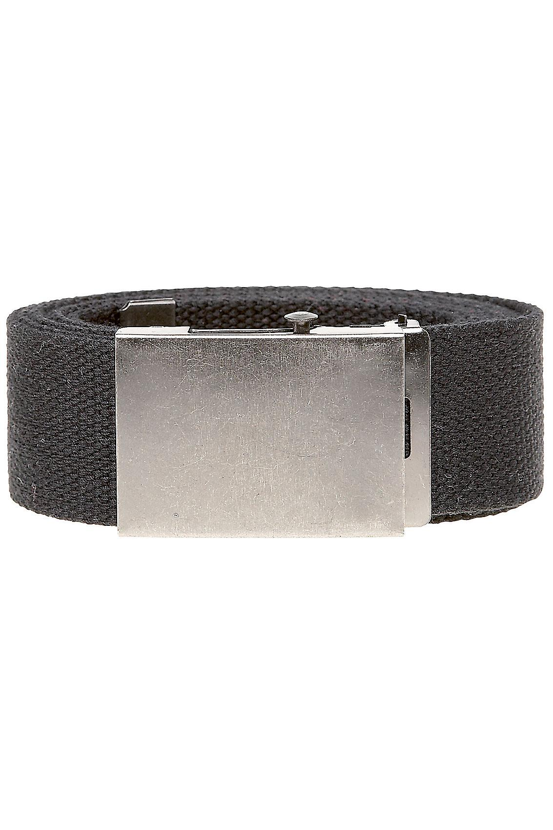 D555 King Size Black Webbing Belt