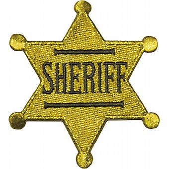 Sheriff Badge embroidered iron-on/sew-on cloth patch (Cd)