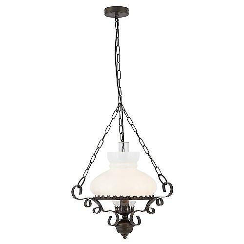 Searchlight 576RU Oil Lantern Rustic Oil Lantern Wrought Iron Italian Style