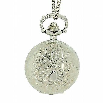 Philip Mercier Gents Silver Tone Pocket Watch On 28 Inch Chain NFP13B