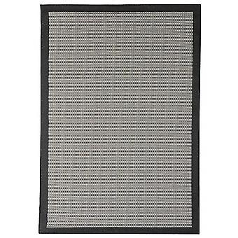 Outdoor-Teppich für Terrasse / Balkon schwarz grau Essentials Chrome Black 200 / 290 cm Teppich Indoor / Outdoor - für drinnen und draussen