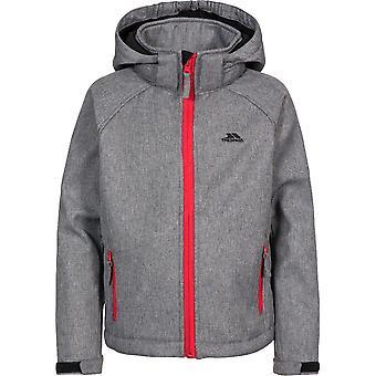 Trespass Boys Tommaso Softshell Hooded Zip Up Jacket