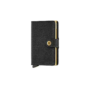 Secrid Mini Crisple Brieftasche Schwarz/Gold