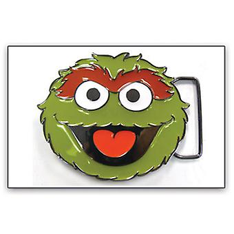 Ceinture Buckle - Sesame Street - New Oscar Face Green Metal Anime bb120698ses