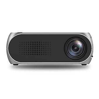 Au plug mini proiettore home theater cinema tv portatile led proiettore 1080p hdmi/usb/sd/av proiettore grigio argento
