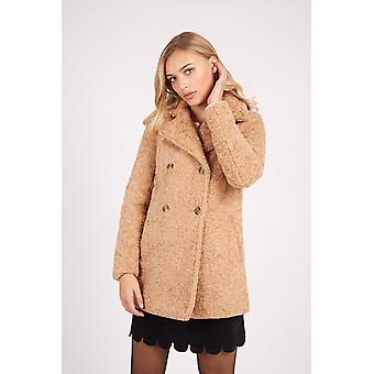 Bellfield Teddy Fur Coat Beige