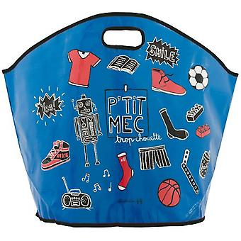 Derrière la Porte barn leksaker väska P'Tit Mec (lagring och organisation)