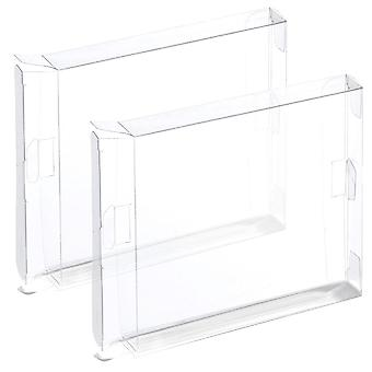 Plastic display box for nintendo nes games - 2 pack clear