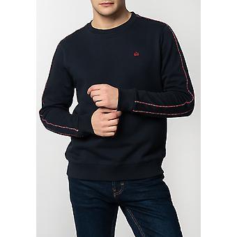 Merc NORBURY, Men's Basic Sweatshirt with Tartan Piping Details