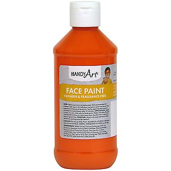 Handy Art Face Paint 8oz-Orange 556-15