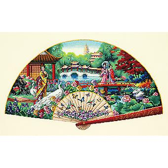Gold Collection Garden Fan Counted Cross Stitch Kit-16
