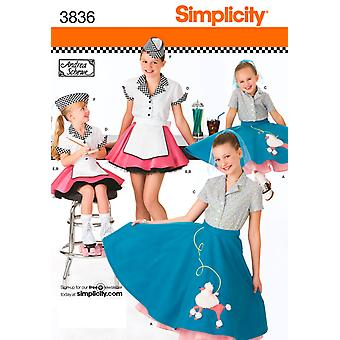 Simplicity Childs And Girls Costumes 3,4,5,6 U03836hh