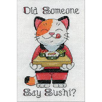 Say Sushi Mini Counted Cross Stitch Kit-5