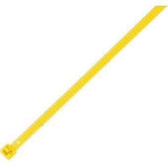 Releaseable Cable Tie, Yellow, mm x mm, 25 pc(s) Pack, HellermannTyton LR55R-PA66-YE-Q1 115-00004