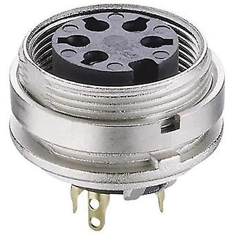 DIN connector Socket, vertical vertical Number of pins: 6 Silver Lumberg KGV 60 1 pc(s)