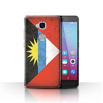 STUFF4 Case/Cover for Huawei Honor 5X/GR5/Antigua & Barbuda/Americas Flag