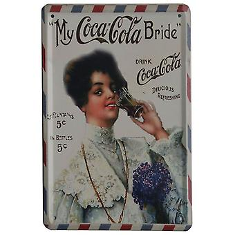 Wellindal Printed Metal Box Cola Vintage Bride 15X21- Hcn1386-87