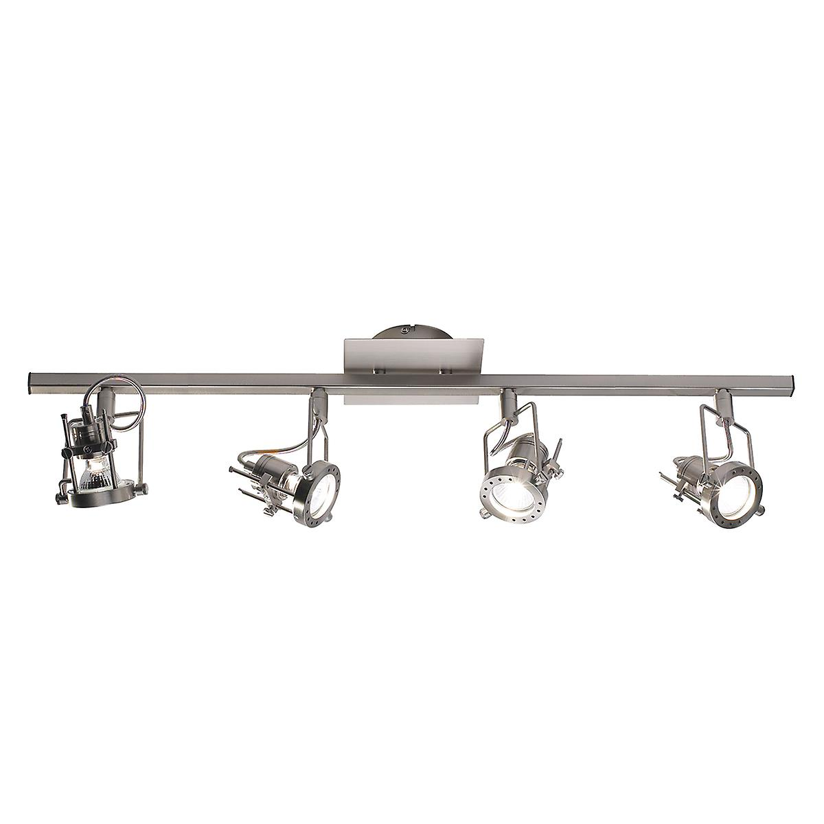Dar BAU8446 Bauhaus Modern Chrome 4 Light Wall Or Ceiling Spot Light Bar