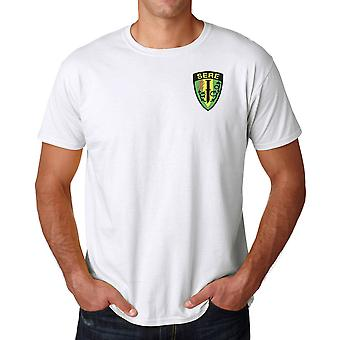 US Military SERE Survival Evasion Resistance and Escape Embroidered Logo - Ringspun Cotton T Shirt