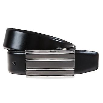 ALBERTO belts men's belts leather belt leather black 95