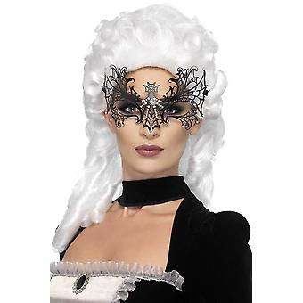 Smiffys Womens Black Widow Web Eyemask Fancy Dress Costume Accessory Halloween