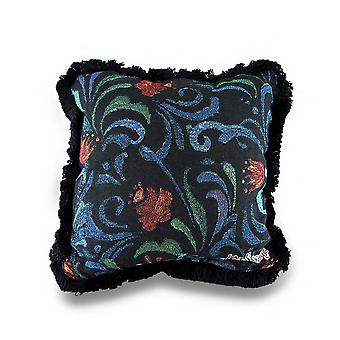 Jim Shore Midnight Bloom Decorative Black Tapestry Throw Pillow 12in.