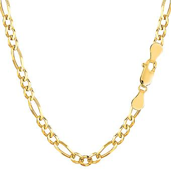 14k Yellow Gold Classic Figaro Chain Necklace, 3.6mm
