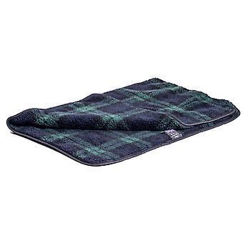 Pet Bed Double Thickness Blanket Sherpa Fleece Black Watch 100x150cm
