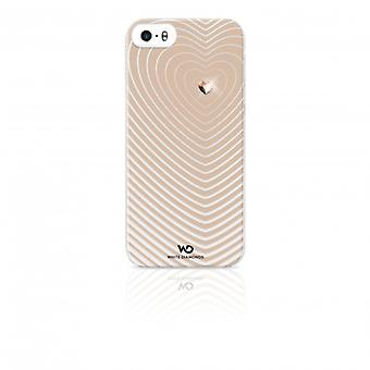 White DIAMONDS Shell iPhone 5/5s/FIND Heartbeat Gold