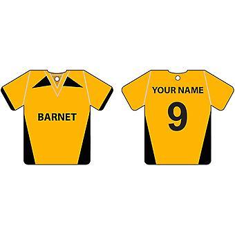 Personalised Barnet Football Shirt Car Air Freshener