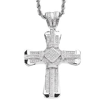 Iced out bling MICRO PAVE pendants - BAY CROSS