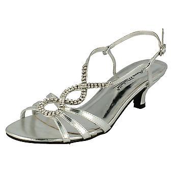 Damer plats på öppen tå Diamante sandaler