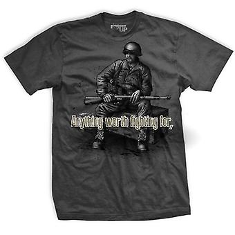Ranger борьбу грязной футболку-серый