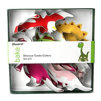 Swift sæt 5 Dinosaur formet Cookie Cutters