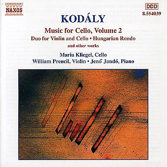 Z. Kodaly - Kod Ly: Music for Cello, Volume 2 [CD] USA import