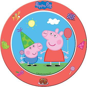 Peppa Wutz plates 8 PCs original decoration Peppa Pig birthday party plates