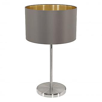 Eglo MASERLO Steel Cappuccino Table Lamp