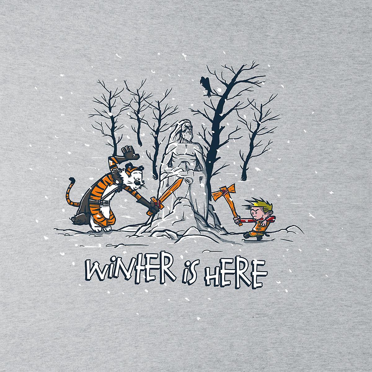 Vinteren er her Calvin og Hobbes Game Of Thrones mænds hættetrøje