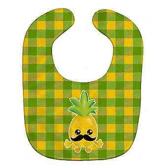 Carolines Treasures  BB8962BIB Pineapple Moustache Face Baby Bib