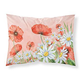 Amapolas y Chamomiles tela funda de almohada estándar