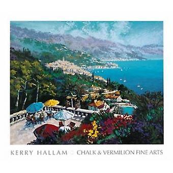 Sur La Terrace Poster Print by Kerry Hallam (30 x 26)