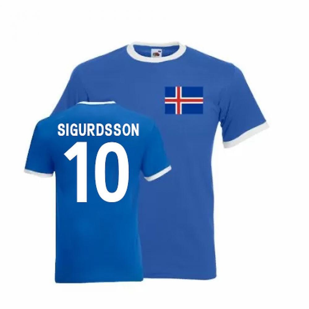 Gylfi Sigurdsson Iceland Ringer Tee (blue)