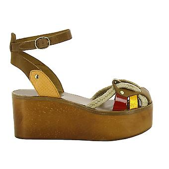 Isabel Marant ladies CP000716P008SMULTI multicolour leather wedge heel