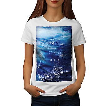 Deep Sea Photo Nature Women WhiteT-shirt | Wellcoda