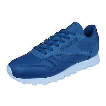 Reebok Classic Leather Sea You Later Womens Trainers / Shoes - Blue
